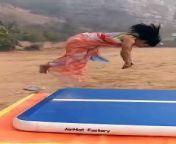 Ruhi Bhabhi Fitness Model Amazing Stunt