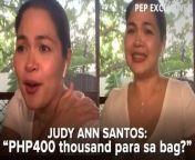 Kahit na afford naman ni Judy Ann Santos na bumili ng mga mamahaling bags at sapatos, aminado itong hindi niya maatim na bumili ng mga ito.<br/><br/>Sa PEP Exclusives interview ng 43-year-old na aktres, sinabi niya ang mas bibilhin pa niya kesa, halimbawa, sa PHP400 thousand worth na bag.<br/><br/>#JudyAnnSantosOnPEP #PEPexclusives #JudyAnnSantos<br/><br/>Video Producer and Editor: Nikko Tuazon<br/>Songs: \