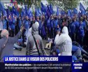 La manifestation des policiers a eu lieu mercredi après-midi. Le syndicat Alliance, pour dénoncer le manque de sanctions pénales à ceux qui agressent les forces de l'ordre, a mis en scène un faux délinquant qui tirait sur des policiers puis des personnes avec le mot \