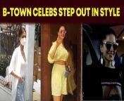 Several B-town celebs were clicked by the shuttebugs on Monday in Mumbai.<br/><br/>#tarasutaria #rakulpreetsingh #sunnyleone #vidyutjammwal #ankitalokhande#geneliadsouza<br/><br/>